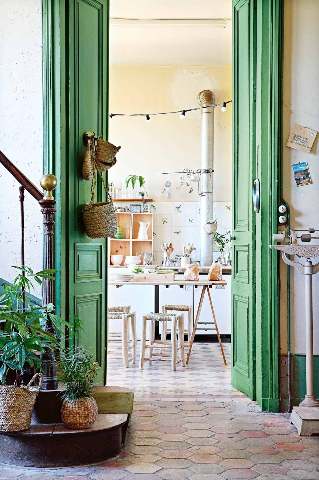 A renovated chateau in France with a laid back boho style. The green doors and & A renovated chateau in France with a laid back boho style. The ... Pezcame.Com