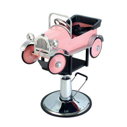 Pibbs 1811 Pink Car Childrens Kids Hair Styling Chair Ebay