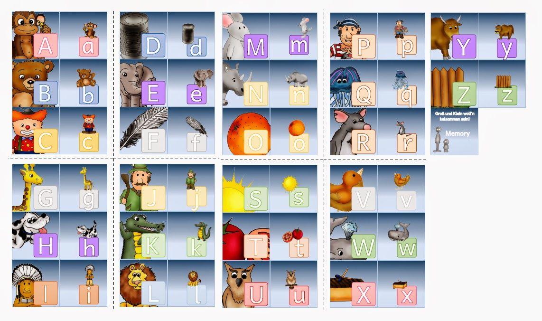 Groß-Kleinbuchstaben - Memo (PDF)       SO! Das war's jetzt aber für heute.   Ach ja, die Farben der Buchstaben haben etwas mit dem näc...