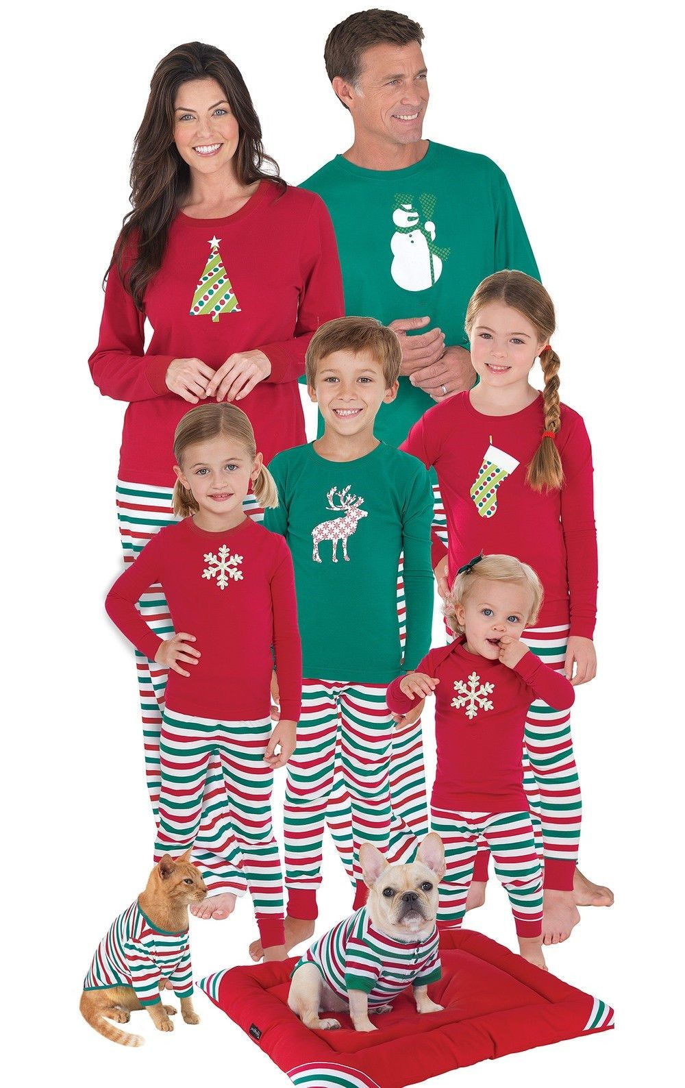 ca8215df48  7.99 - Family Christmas Pajamas Set Women Men Baby Kids Deer Sleepwear  Nightwear  ebay  Fashion