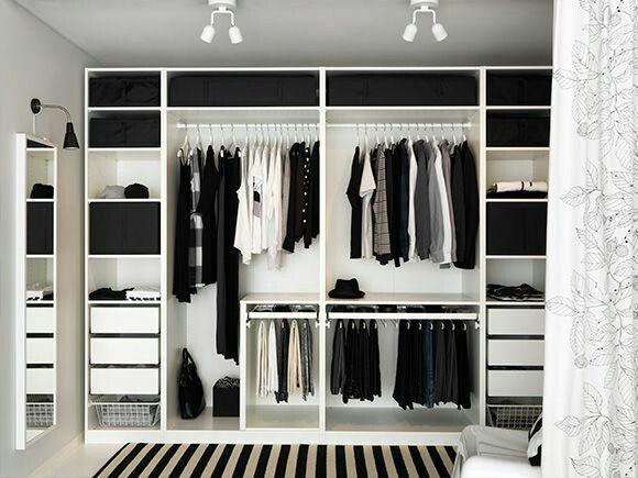 Pax kast zonder deur  Wardrobe ideas  Apartment bedroom