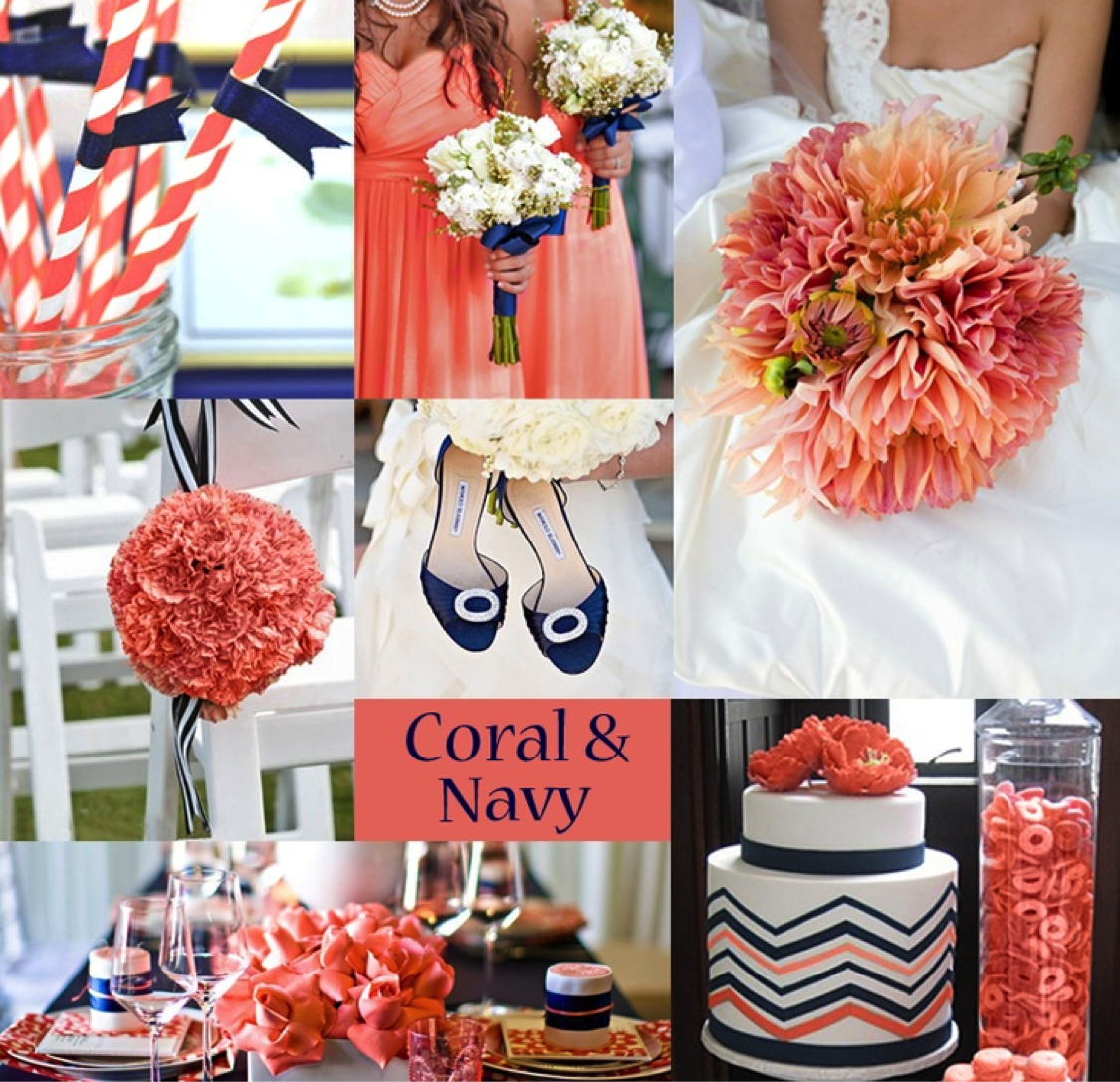 Navy And Coral Wedding Ideas
