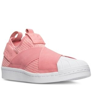 adidas Women s Superstar Slip-On Casual Sneakers from Finish Line - Pink 5.5 38e9d2d74