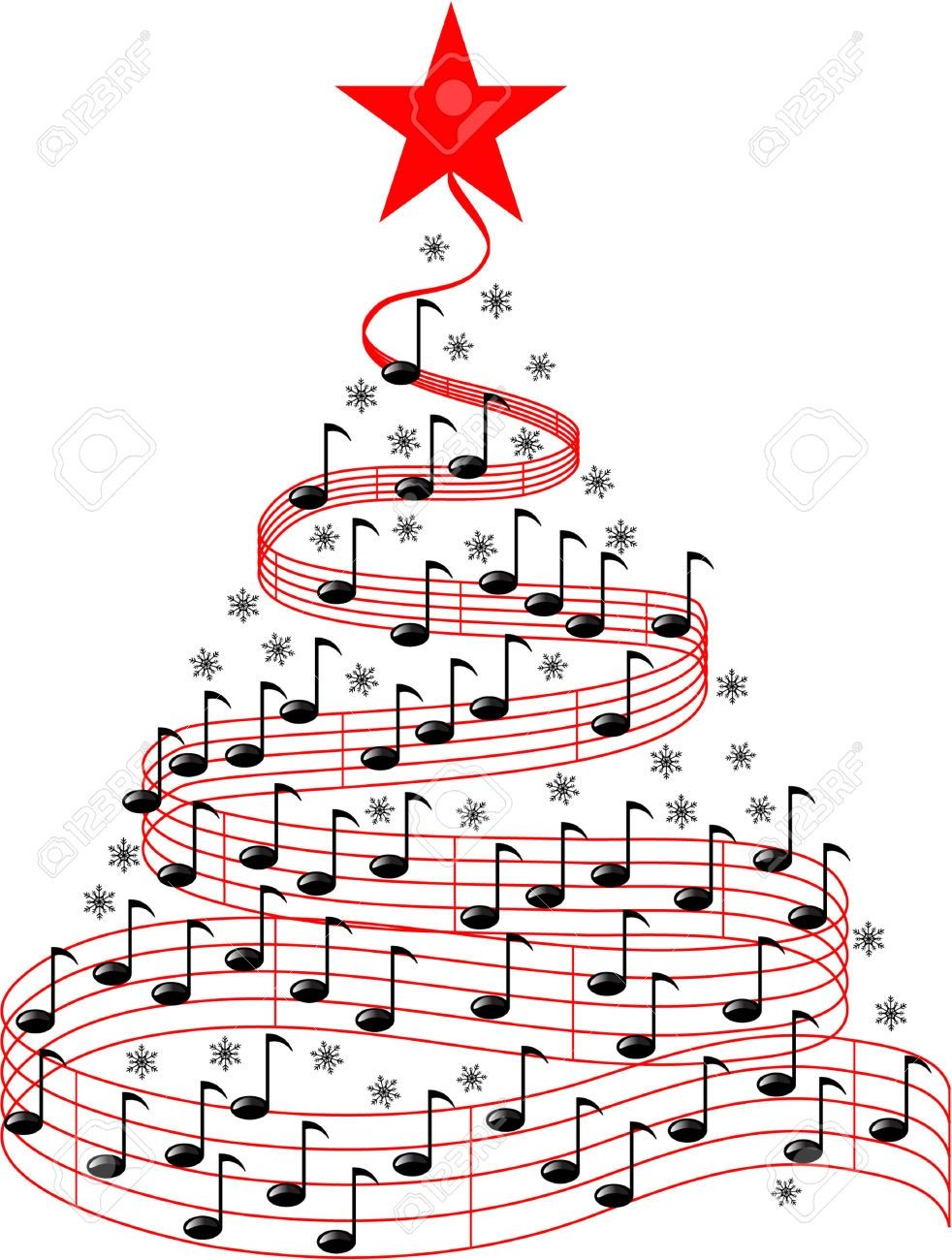 Christmas Music Clipart.New Christmas Music Clipart Design Digital Clipart