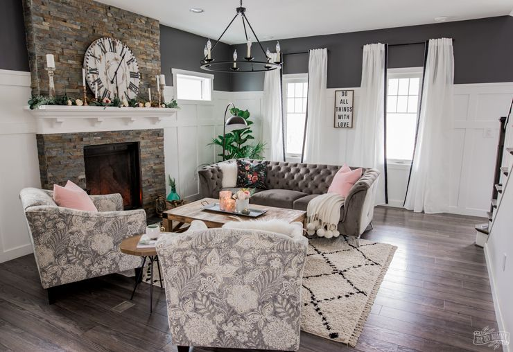 A Cozy Rustic Glam Living Room Makeover For Fall The Diy Mommy Rustic Glam Living Room Glam Living Room Glam Living Room Decor #white #rustic #living #room #furniture