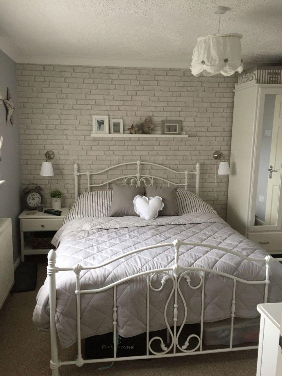Grey Brick Wallpaper Bedroom Ideas In 2020 White Brick Wallpaper Bedroom Brick Wallpaper Bedroom White Bedroom Decor