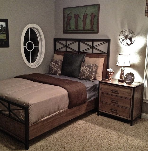 Boys Golf Bedroom | Home bedroom, Young mans bedroom