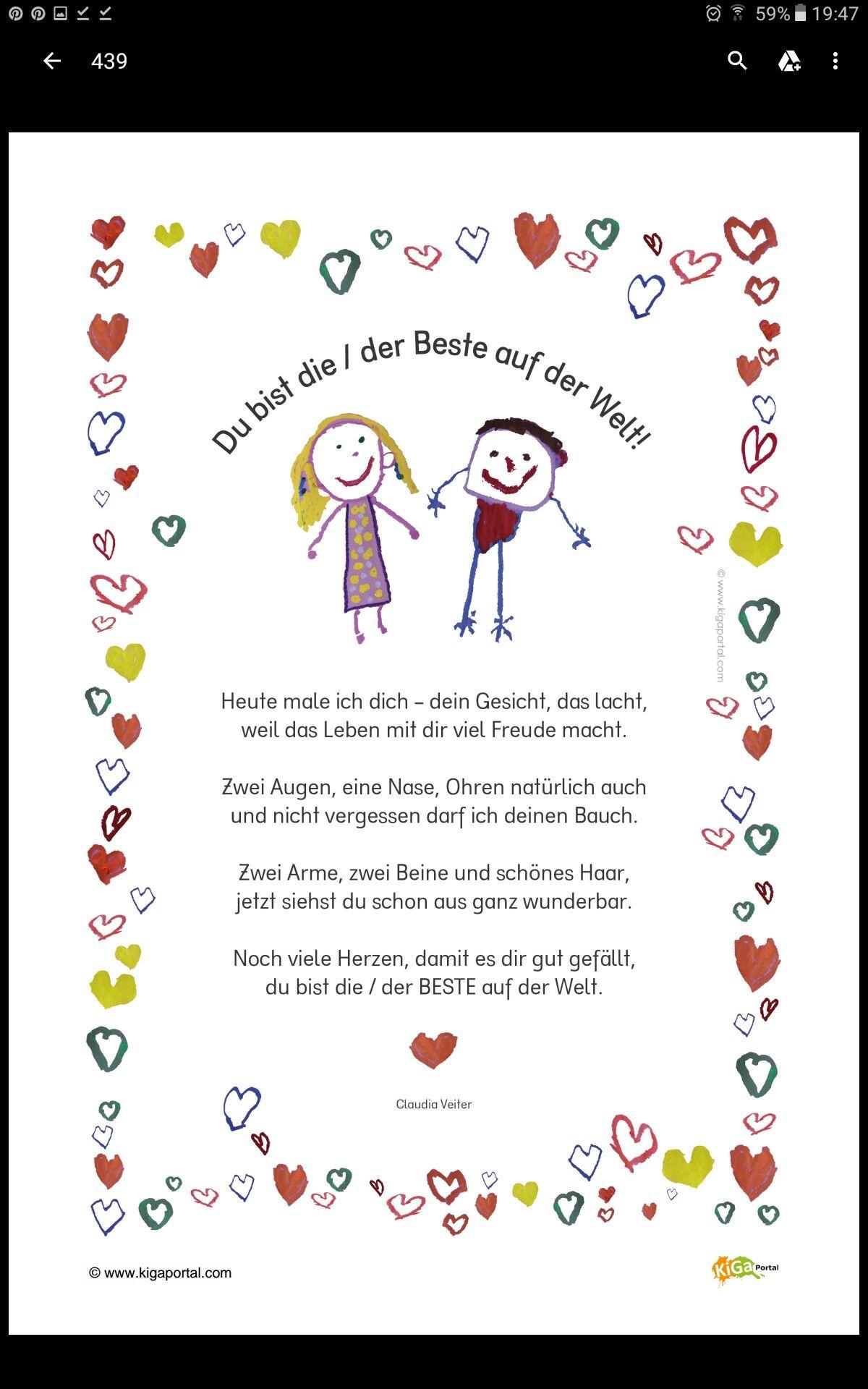 Gedicht für Mutter/Vatertag | Rechnen, Sprache kinder ...