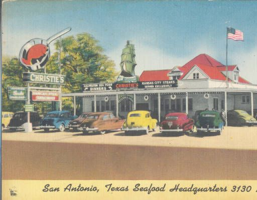 Christies San Antonio Texas Seafood Headquarters Postcard