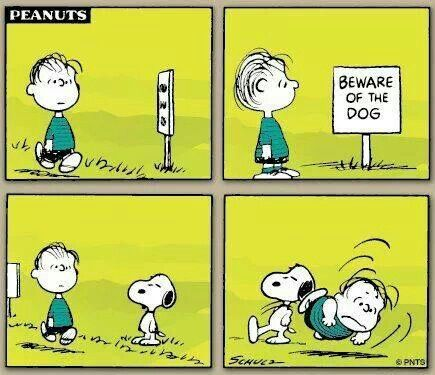 Snoopy and Linus