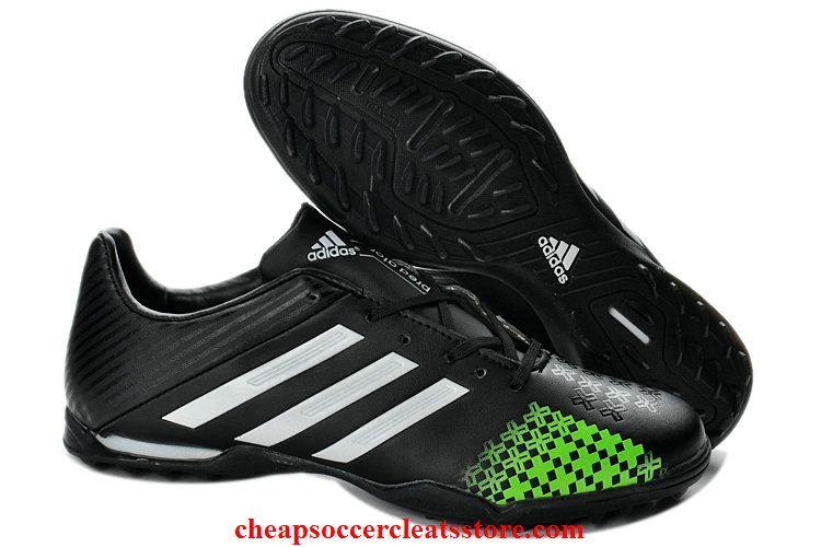 Adidas Predator LZ TRX TF Boots For Cheap Black White Green Soccer Cleats 729d79dc0499