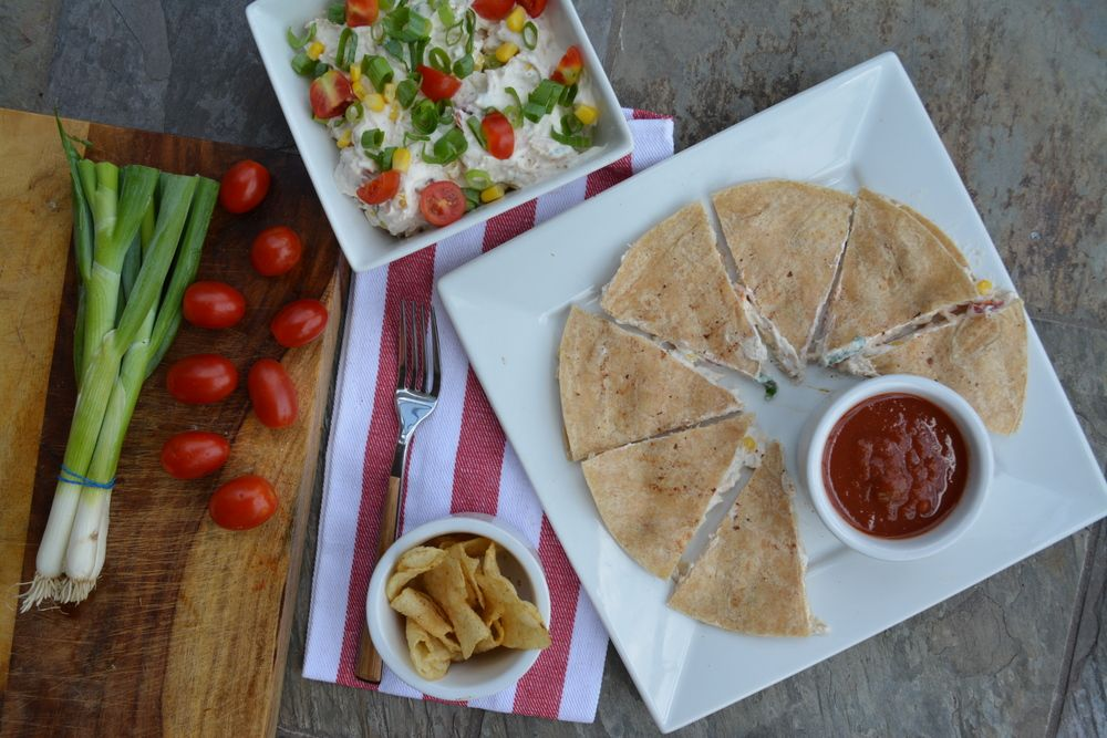 Ranch & Cream Cheese Chicken Quesadillas — KATIESFITSCRIPT