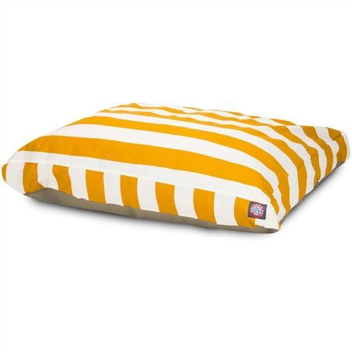 Majestic Pet Products Yellow Vertical Stripe Small Rectangle Pet Bed