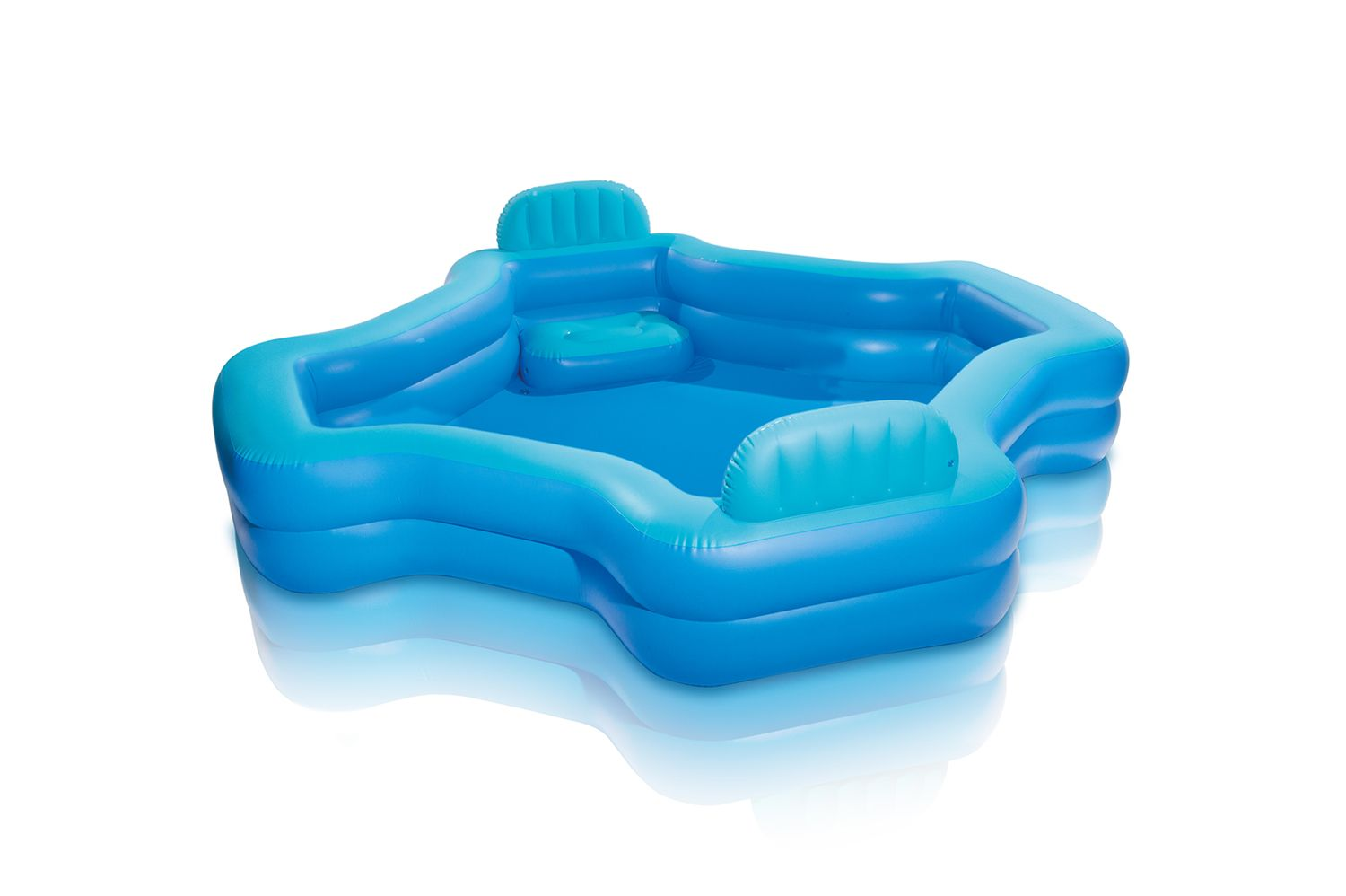Intex Inflatable 2 Seat Swim Center Family Lounge Pool Walmart