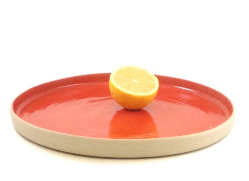 Plate VIS - red, J.C. HERMAN Ceramics