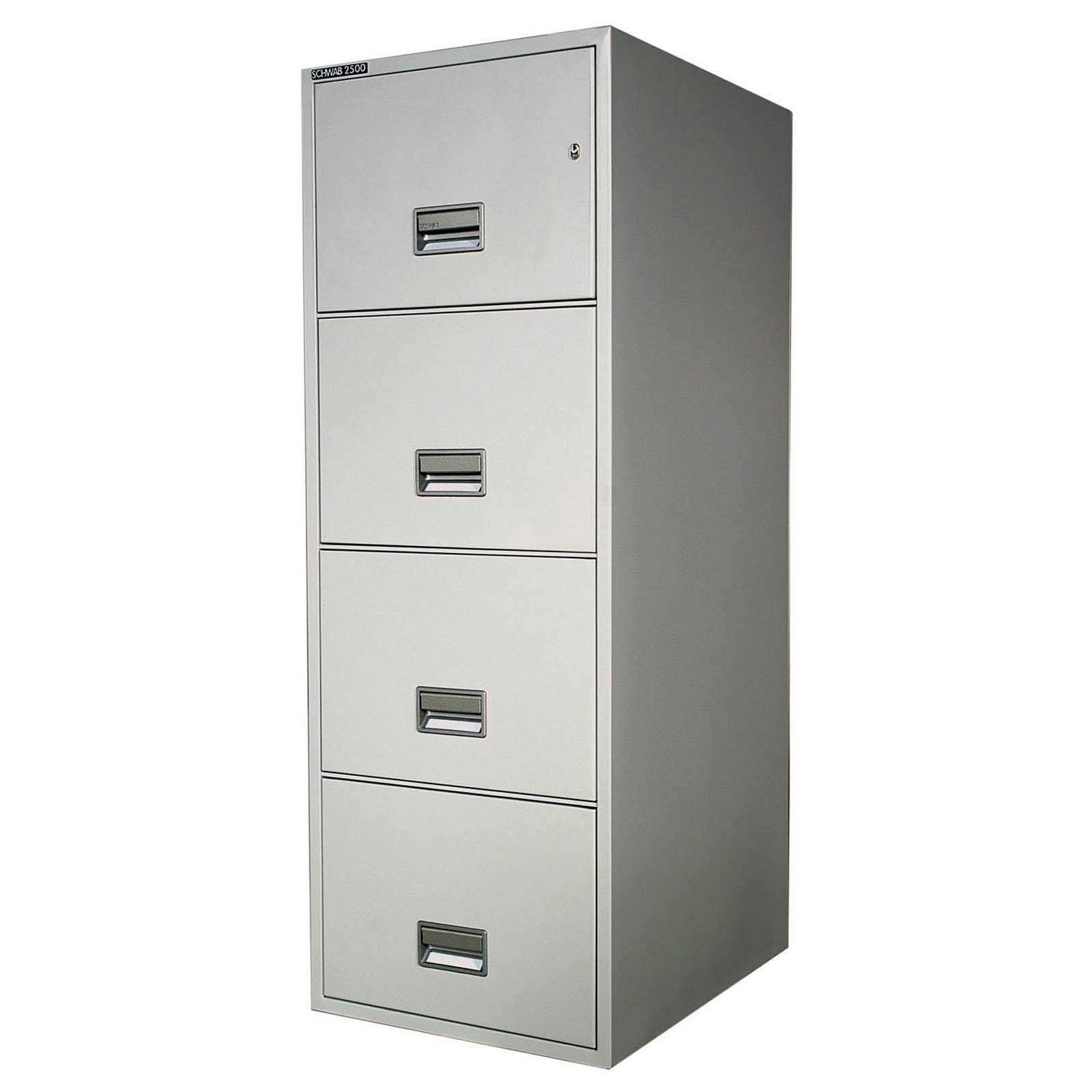 File Cabinets | Schwab Metal 4 Drawer Legal File Cabinets