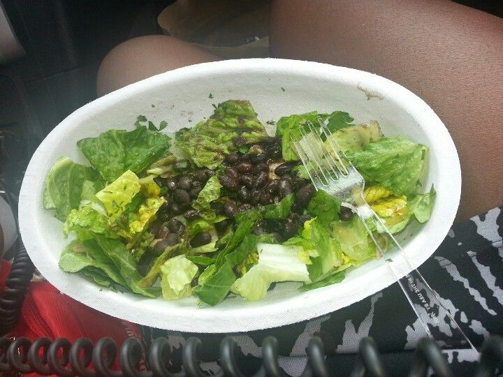 Simple romaine lettuce salad with black beans and balsamic ...