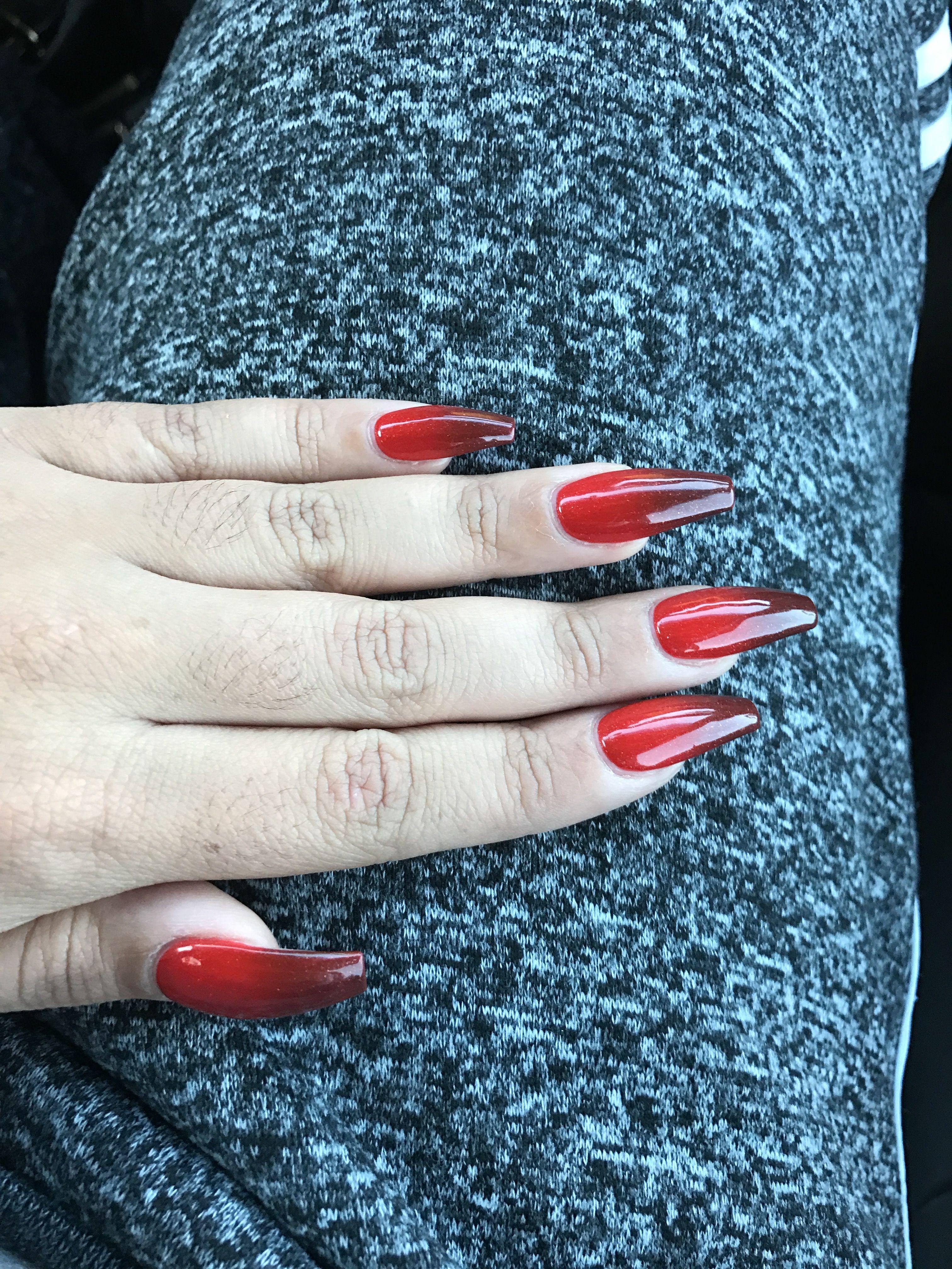 Kiara Sky ombré nail polish. \