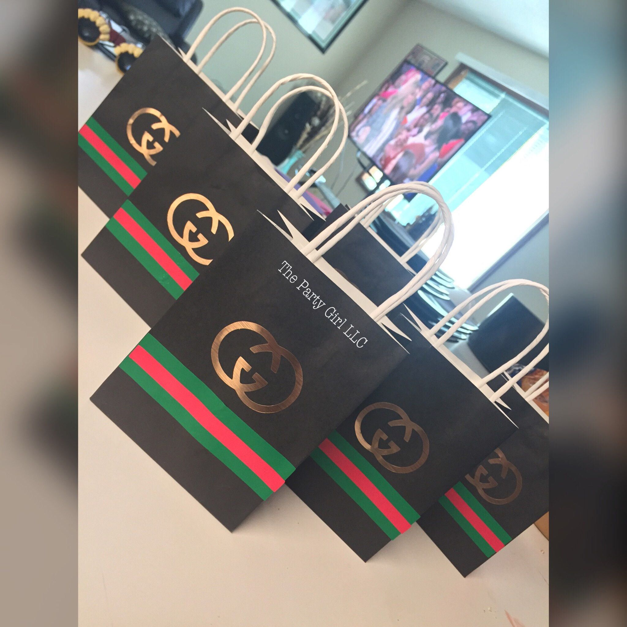 15eb4d625bdb5e Gucci Party Favor Bags!! Perfect for a Gucci Themed Birthday, Baby Shower,  Or Sweet 16!!