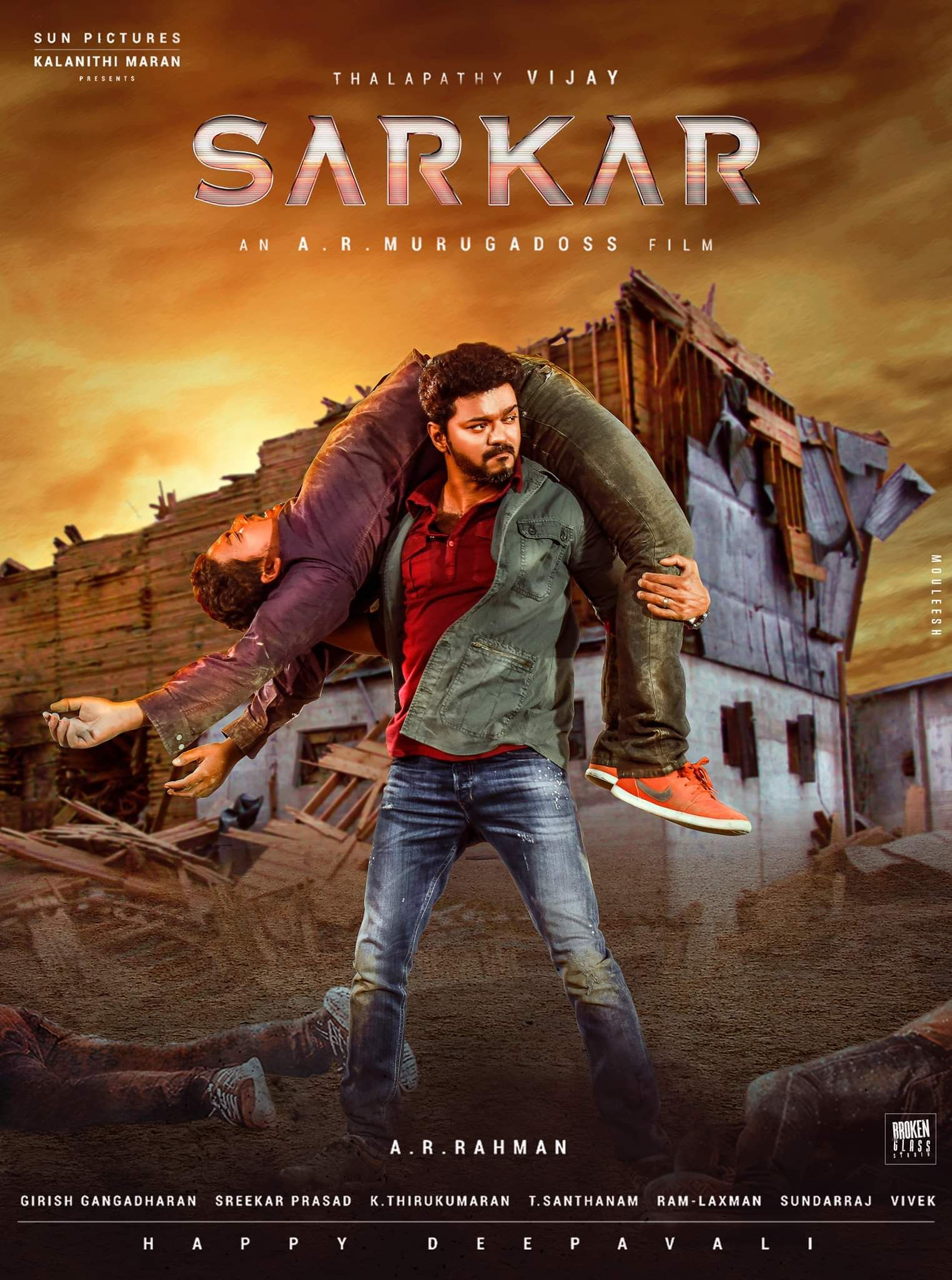 Sarkar (2018) Dual Audio 650MB UNCUT HDRip 480p ESubs Free Download