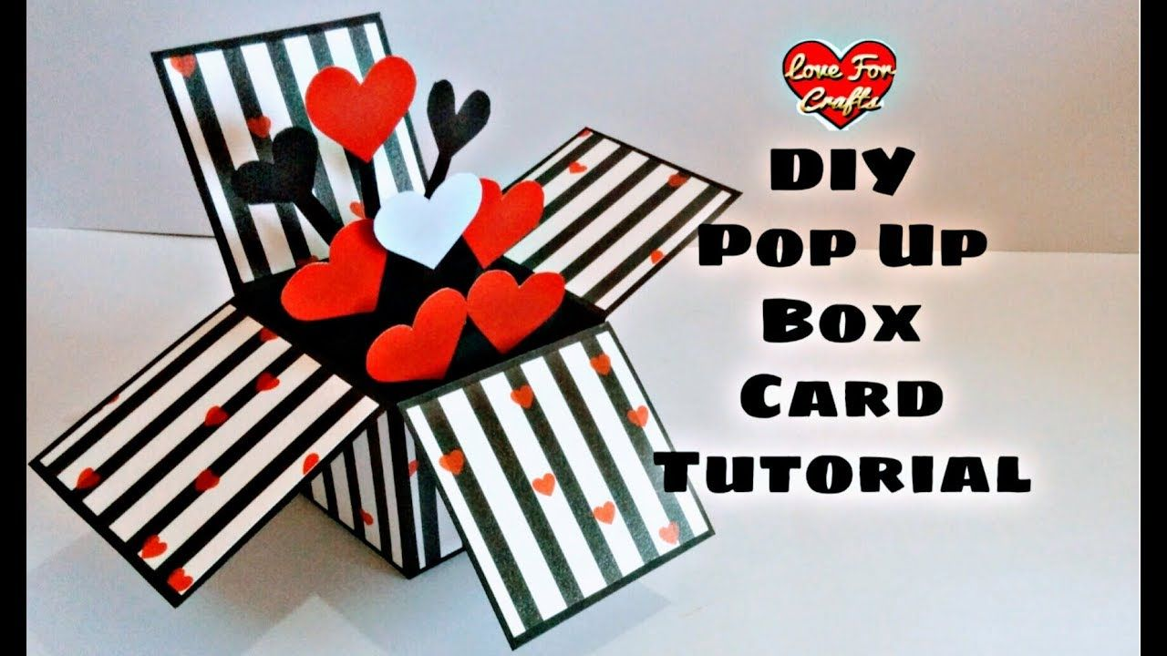 Diy Pop Up Box Card Tutorial Valentine Day Gift Idea Highly Requested Video Youtube Box Cards Tutorial Pop Up Valentine Cards Diy Card Box
