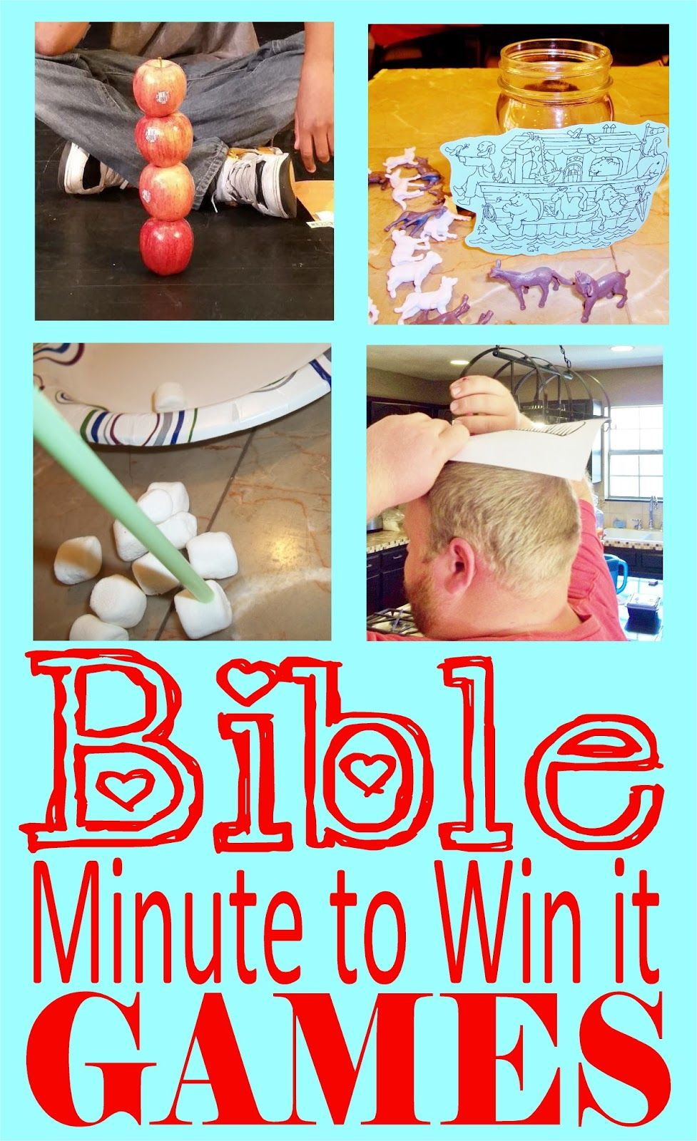 HollysHome Church Fun Minute to Win it Old Testament
