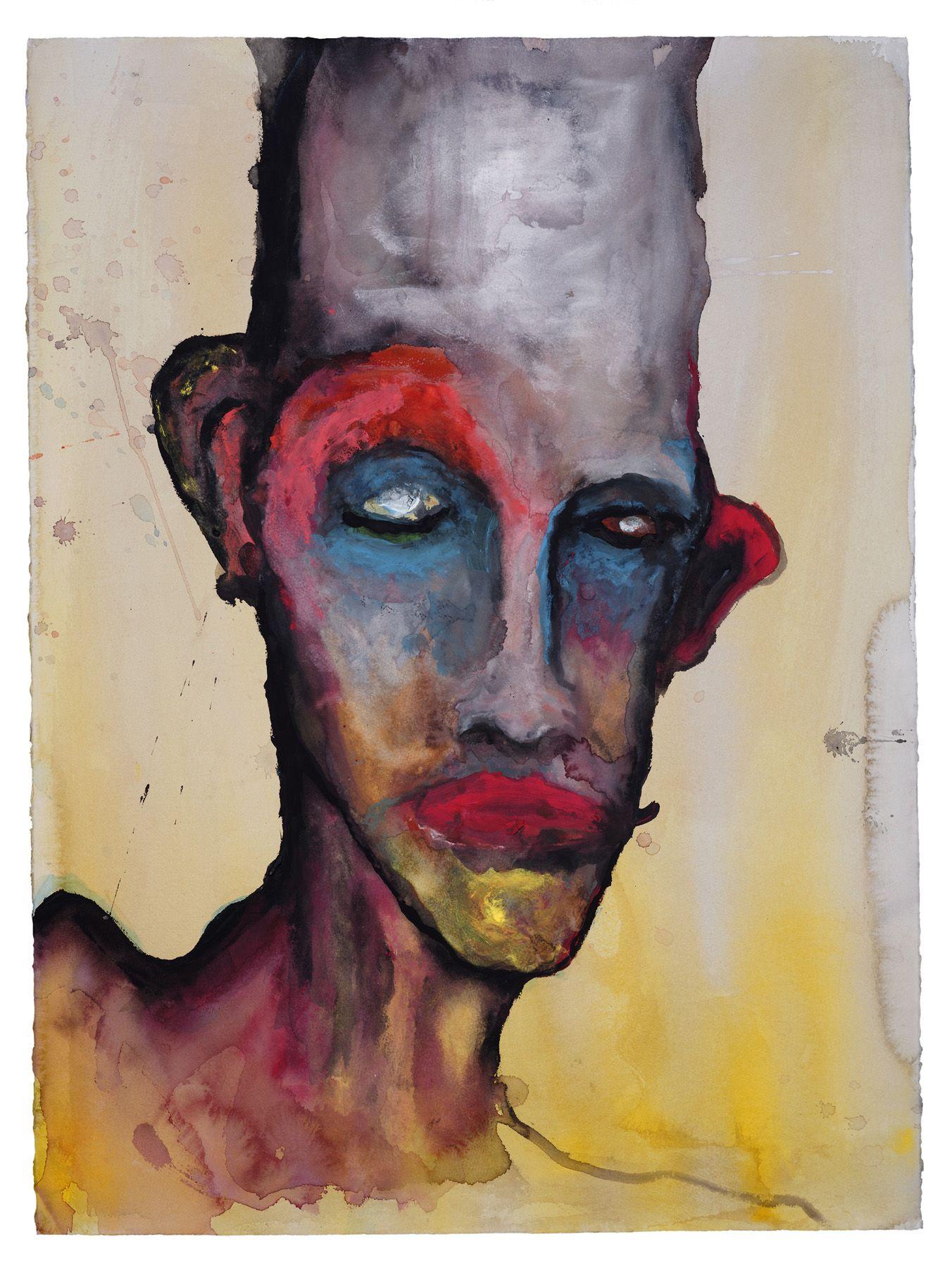 "Perou | 30"" X 22"" | Watercolor | Marilyn manson, Painting, Manson"