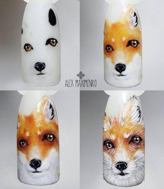 #nailarttutorial #foxnailart