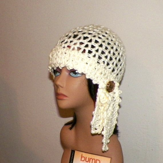 373dacaba Ivory Hat Flapper Gypsy Cloche Summer by wildirishrosecrochet | hats ...