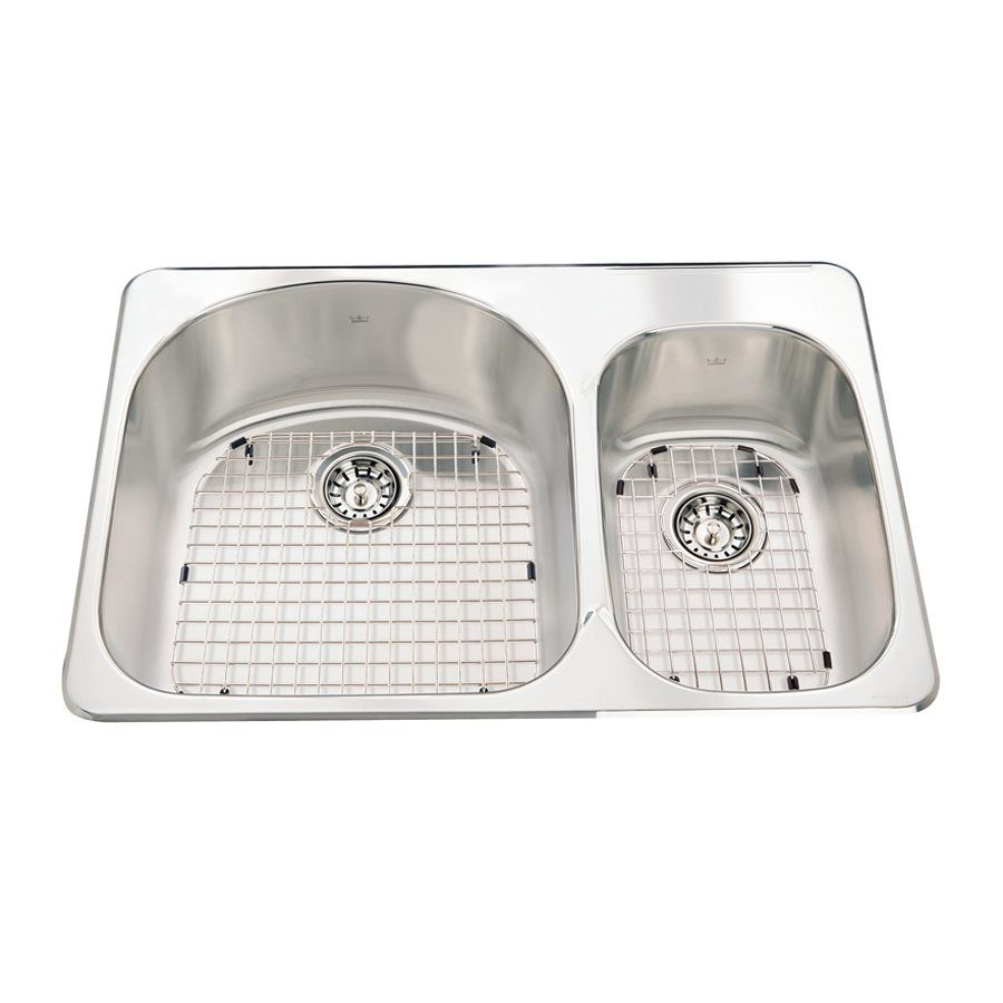 Shop Kindred 18-Gauge Double-Basin Drop-In Stainless Steel Kitchen ...