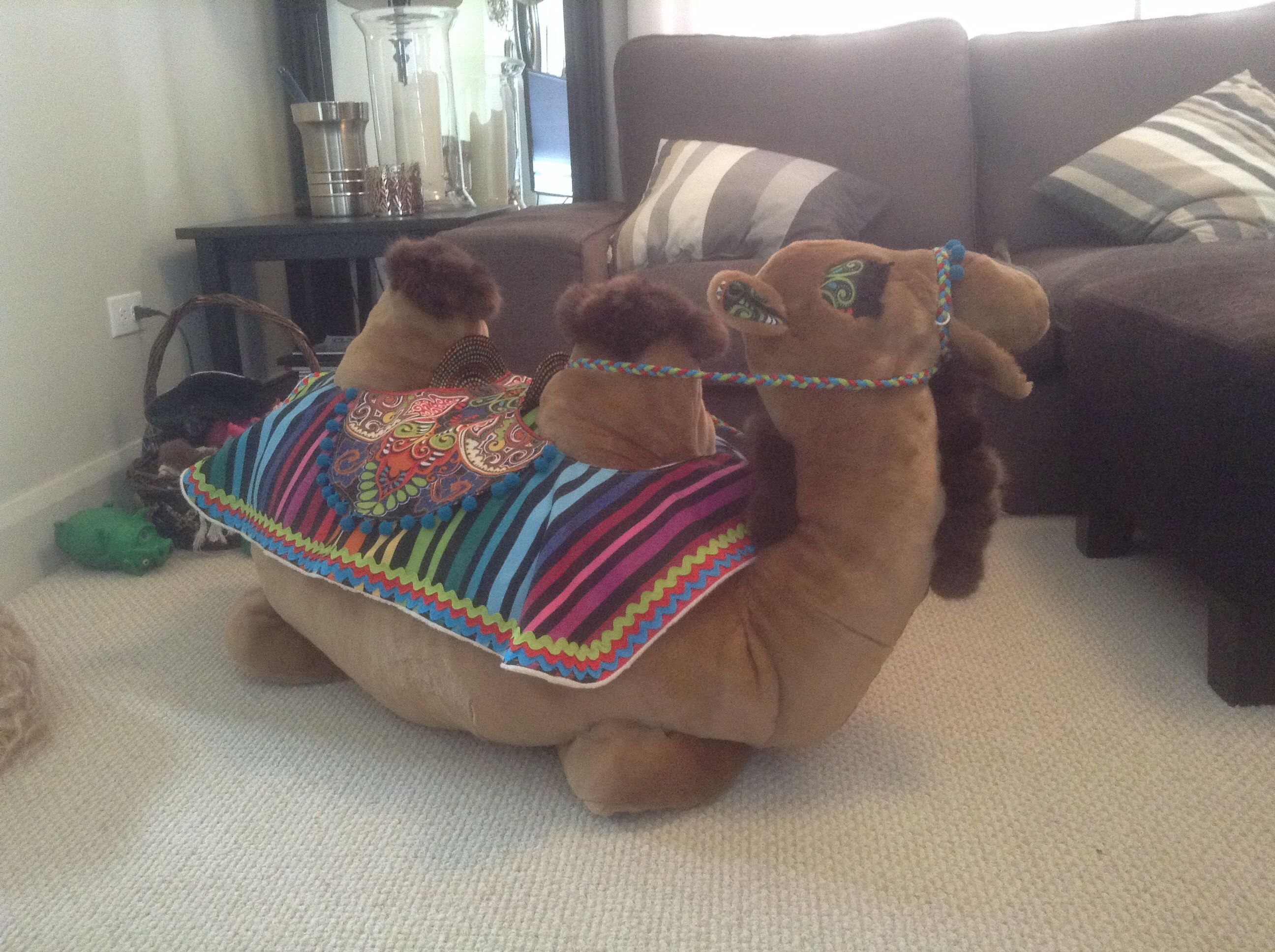 Handmade Stuffed Camel First Birthday Gift For Grandson Lots Of Hours Invested In This Heirloom Toy Fun Fur With Outdoor Fabrics Used Blanket And