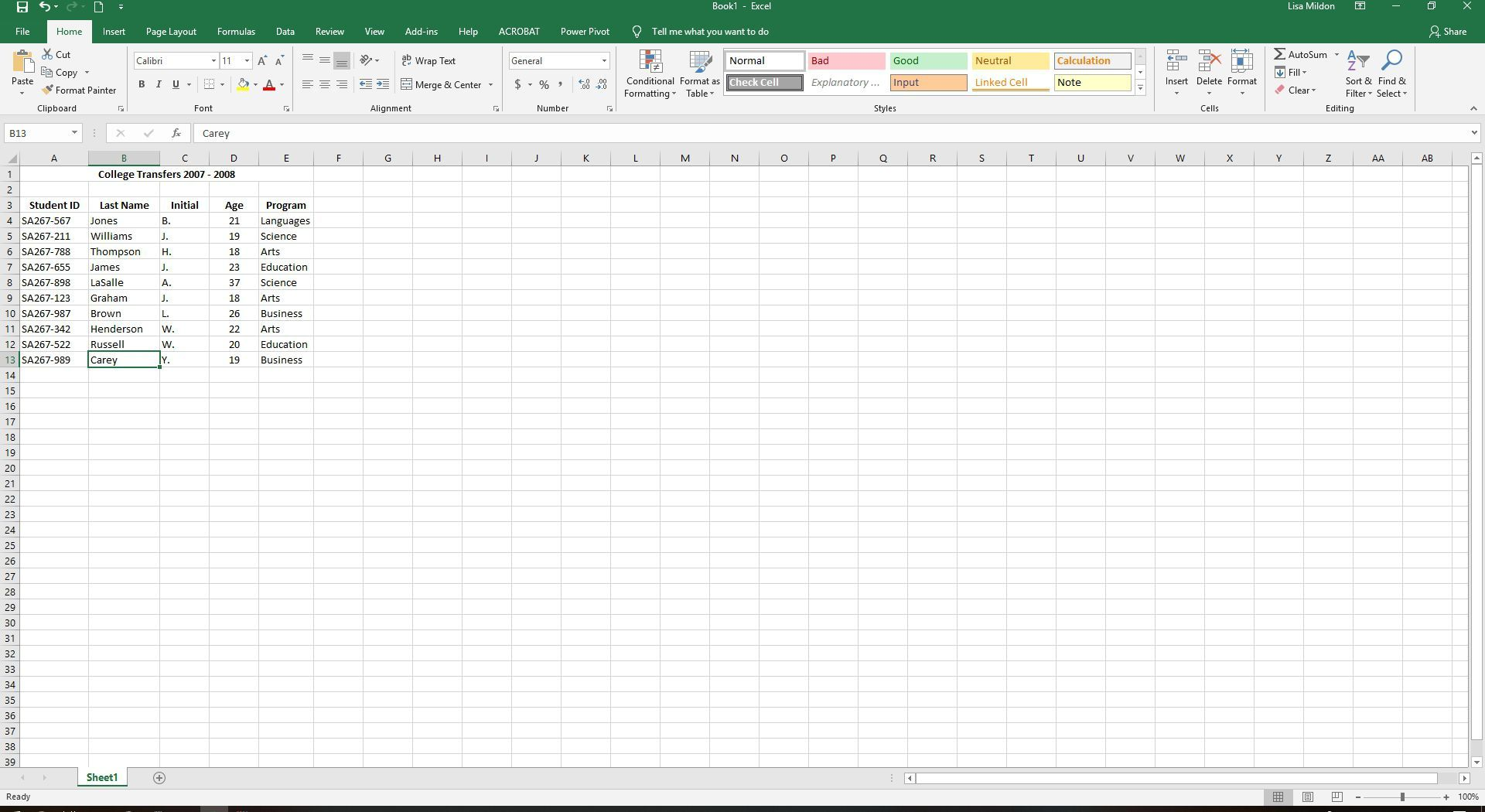Use An Excel Data Form To Quickly Add Data To A Worksheet