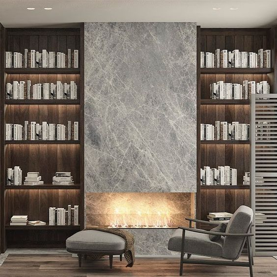 Wall To Wall Twin Slot Shelves And Central Cementboard