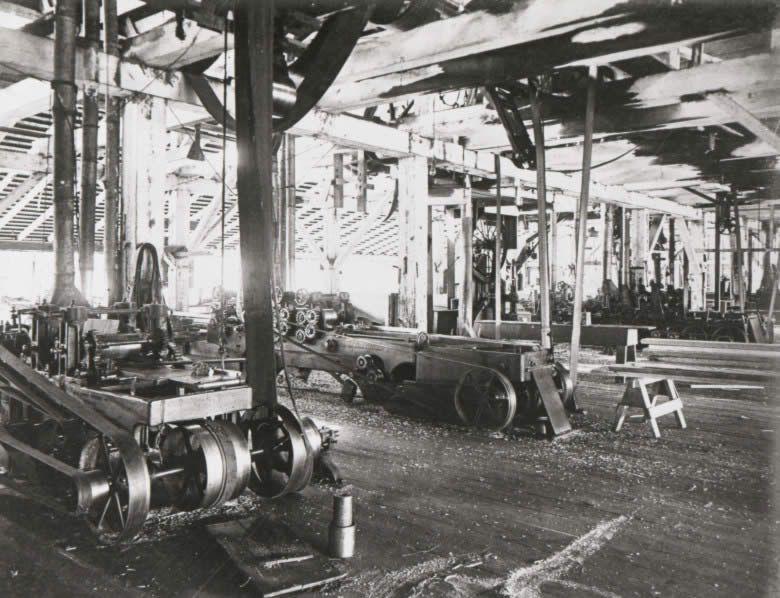 An Interior View Of The Aldridge Sawmill C 1910 Lumber