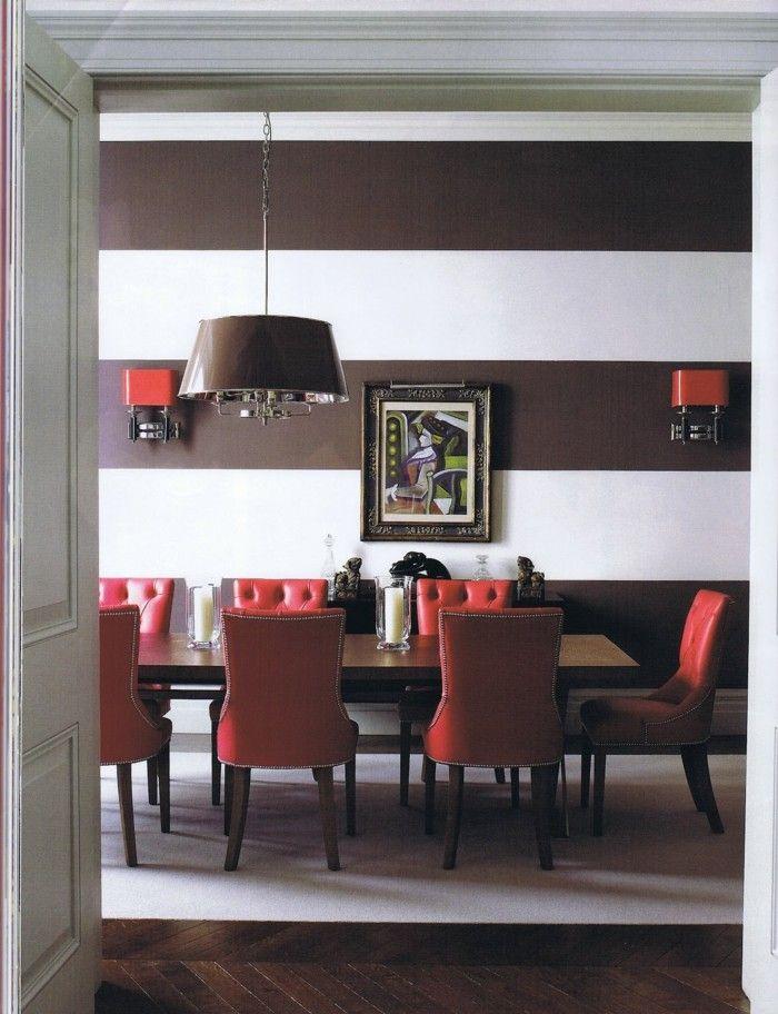 Wanddesign Ideen Fur Das Esszimmer Streifen Peppen Den Raum Auf