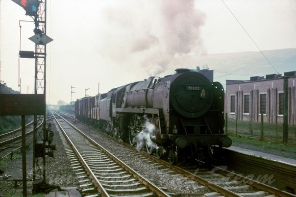 Rare colour picture of Venus, 70023, sadly reduced to pulling freight