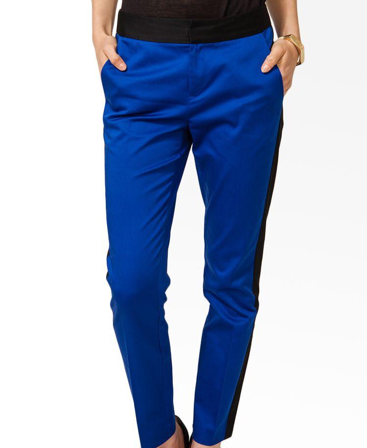 Colorblocked Straight Leg Pants