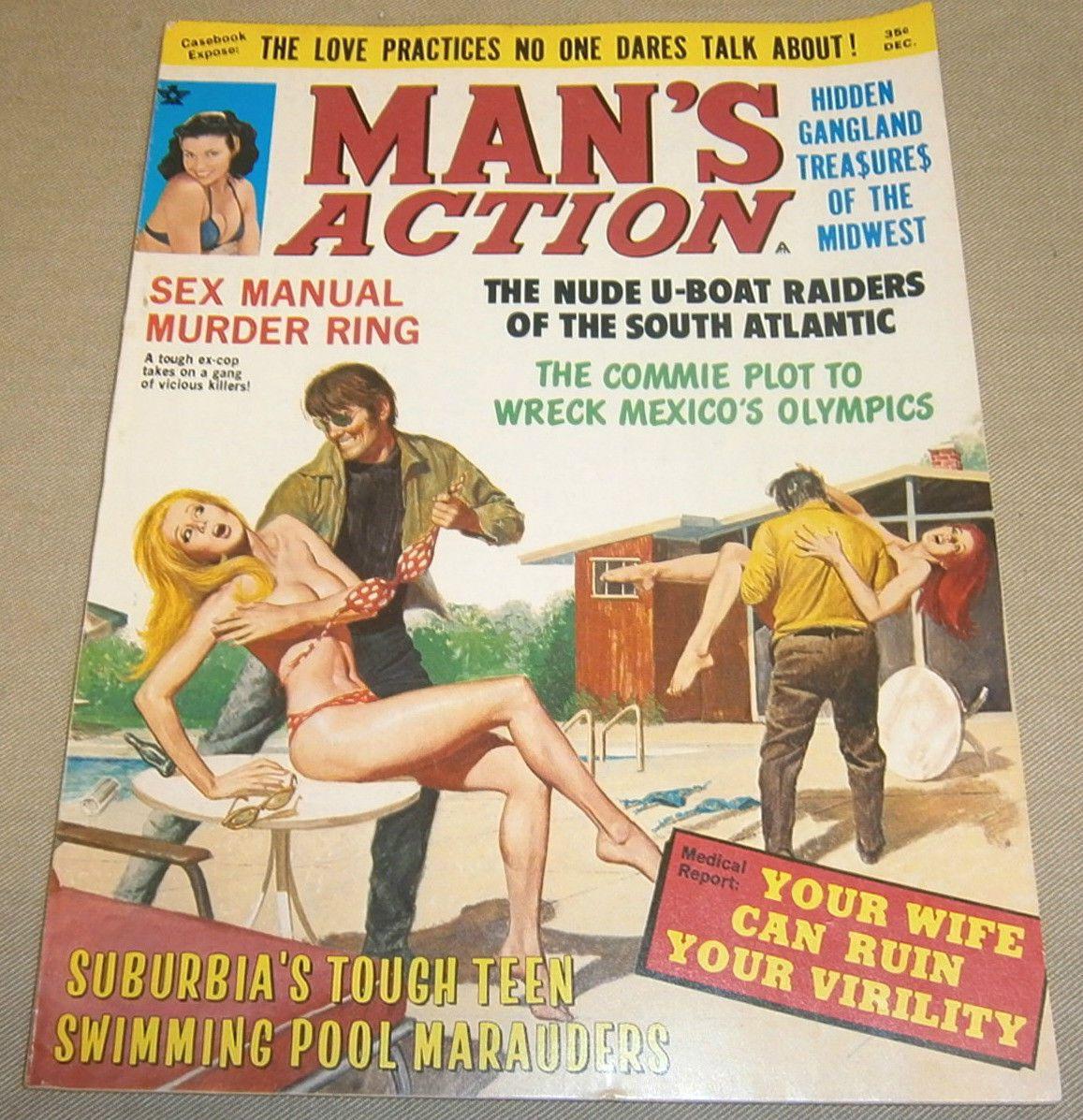Pin on It's A Man's World ( Men's Adventure Magazines) If