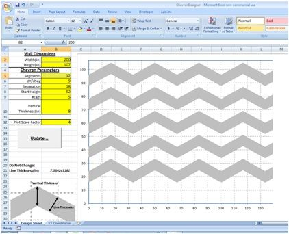 BEST chevron template EVER!!  You enter in measurements and it figures everything for you!!  Genius!