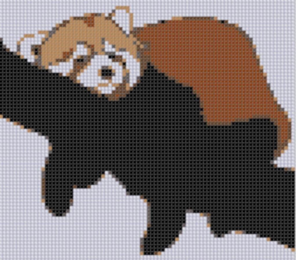 Red Panda Cross Stitch Pattern   Kreuzstich, Vorlagen und Motive