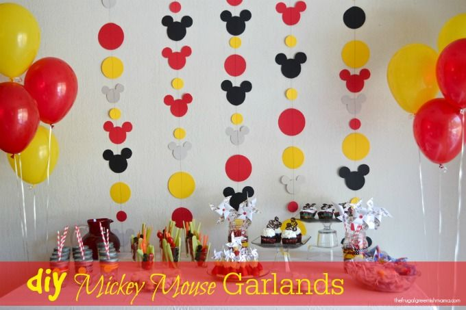 Mickey Mouse Diy Decorations Diy Mickey Garland Decoration 2nd