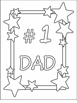 photo relating to Printable Fathers Day Card named Absolutely free Printable Fathers Working day Playing cards Coloring Playing cards For Young children