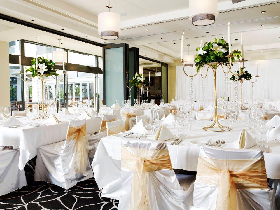 A beautiful wedding reception set up at