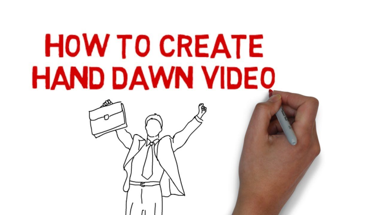 How To Create Hand Drawn Videos Whiteboard Videos Free Trial Hand Drawing Video How To Draw Hands Whiteboard Video