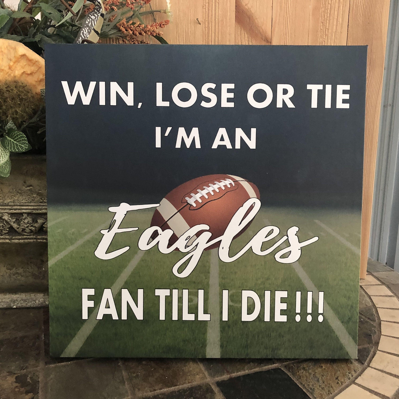 Philadelphia Eagles Sign Eagles Wrapped Canvas Sports Decor Man