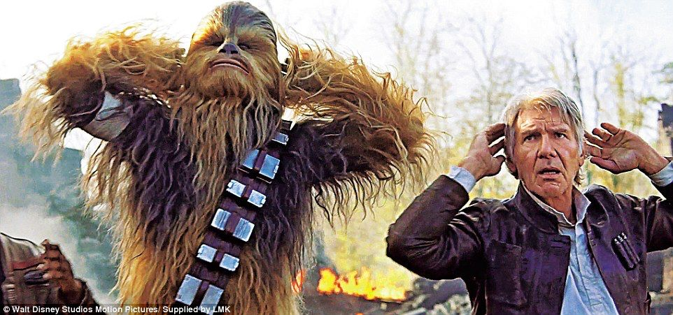 Billede fra http://i.dailymail.co.uk/i/pix/2015/11/27/15/2EDBD90D00000578-3335301-Han_Solo_Harrison_Ford_and_Chewbacca_Peter_Mayhew_are_captured-a-118_1448639078207.jpg.
