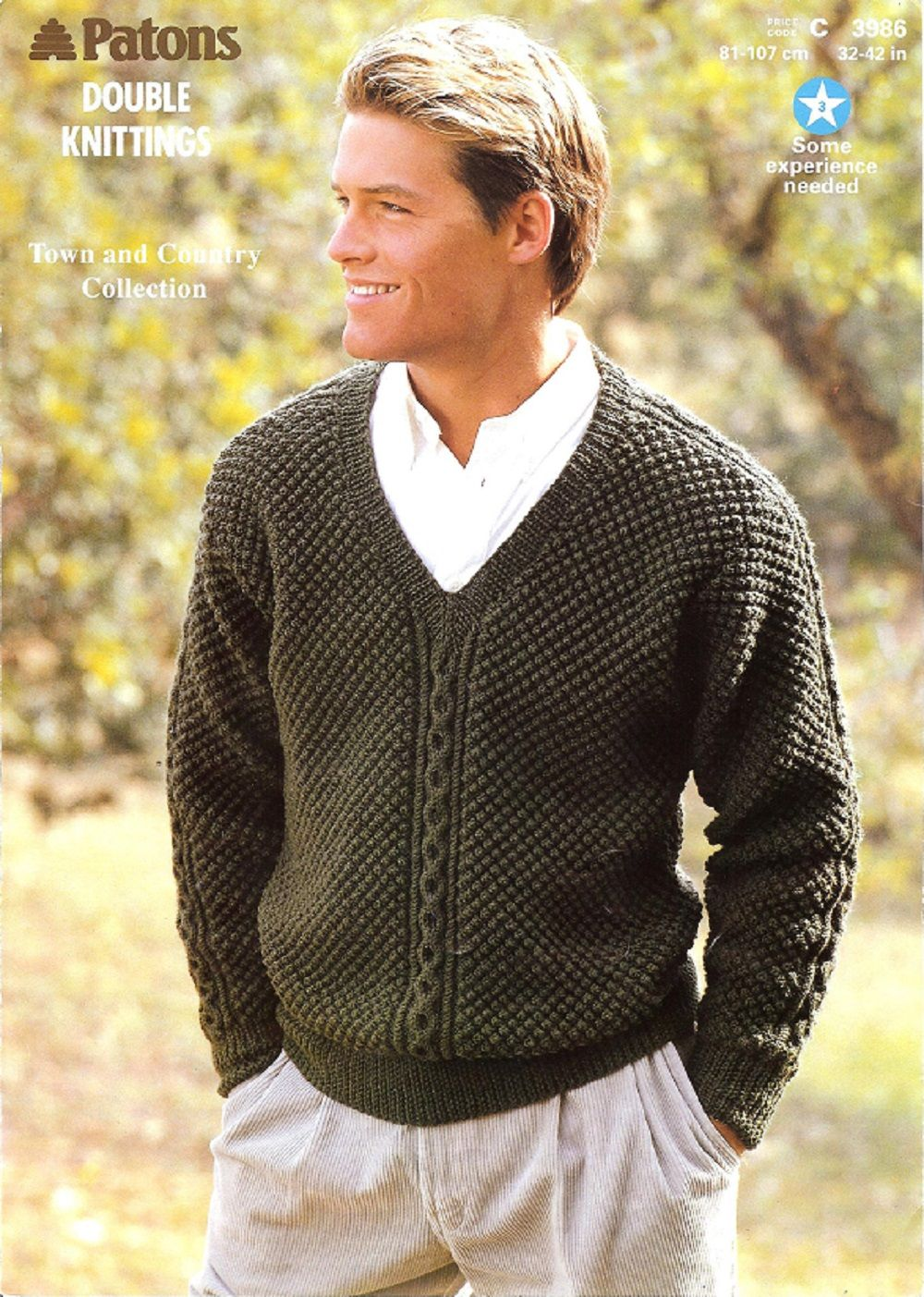 Patons knitting pattern 3986 dk mans v neck sweater knitting patons knitting pattern 3986 dk mans v neck sweater bankloansurffo Image collections