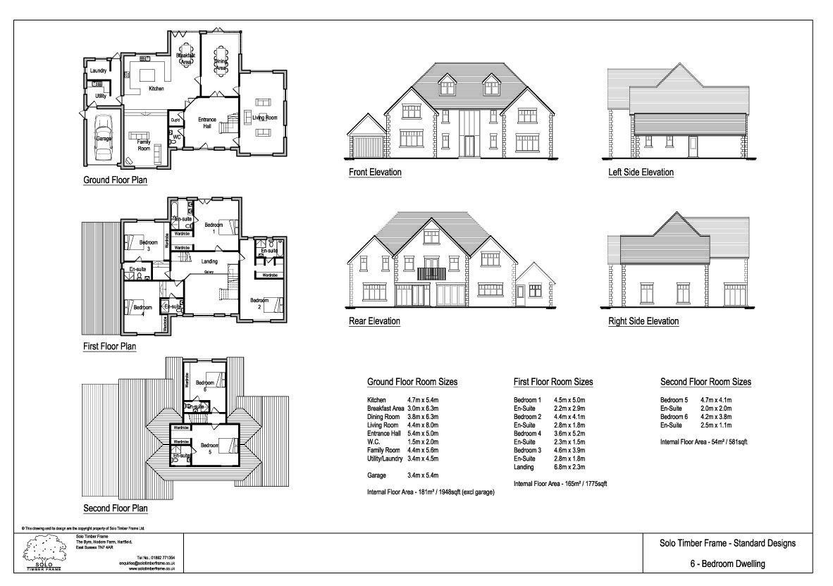 5 Bedroom House Designs 5 Or 6 Bedroom Self Build Timber Frame House Design  Solo Timber