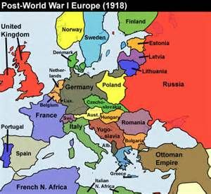 Image Result For Political Map Of Europe After Ww Number The - Europe map after world war1