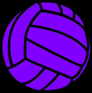 Volleyball purple. Clip art vector online